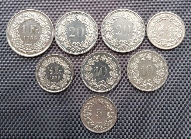 Коллекция монет Швейцарская конфедерация (1970 - 1993 )