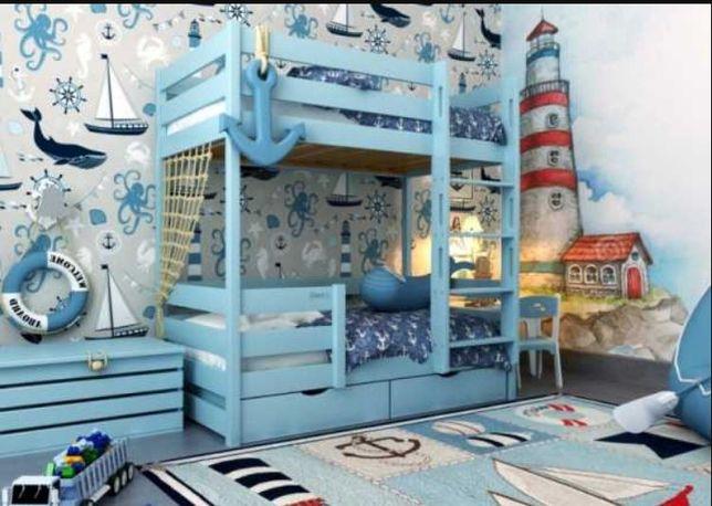 Акция кровать двухъярусная сделана в Гуцуляндии из Смереки Карпатской