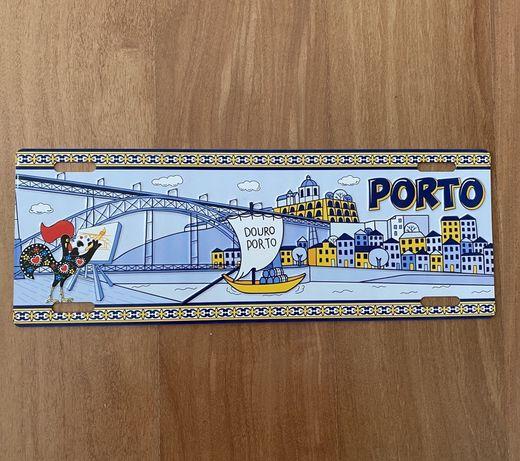 PORTO - placa matricula em metal para decoraçao - estilo vintage |nova