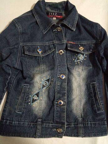 Джинсовка Джинсовая куртка женская размер Л
