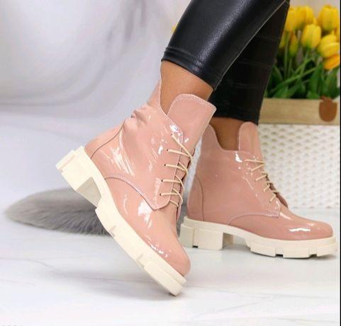 Новые ботинки деми в натуралке 39 р