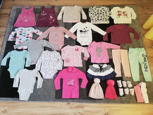 Ubrania_ubranka dla dziewczynki rozm 86