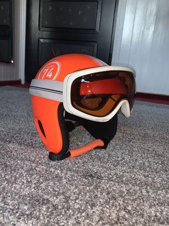 kask narciarski +gogle