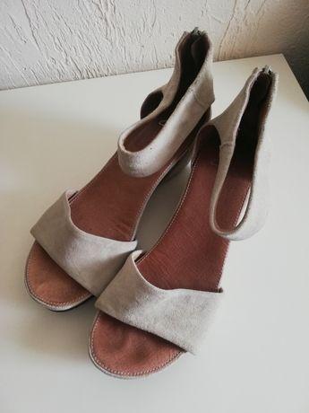 Clarcs sandały 38 beżowe