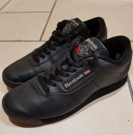 Кроссовки Reebok Classic Leather Black Оригинал б/у черные