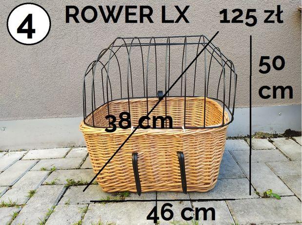 O04_ wiklinowy kosz ROWER XL transporter dla kota psa na rower 46 x 38