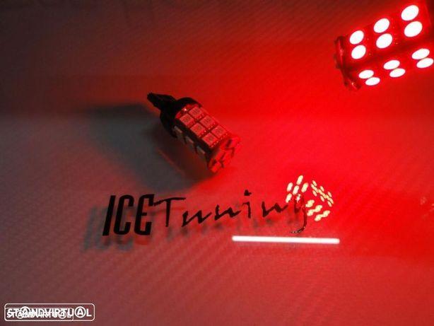 Led Can Bus T20 / 7443 21/5W 2 Polos Vermelho 4.5W, 400 LUMENS 12V LED SAMSUNG