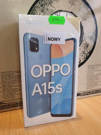 Nowy zaplombowany telefon OPPO A15s black 4/64GN Gwarancja!!!