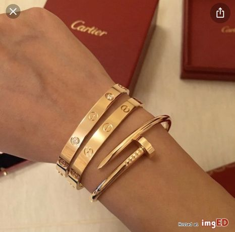 Srebrna bransoletka Cartier