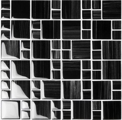 Mozaika szklana Hoppe czarna 30x30