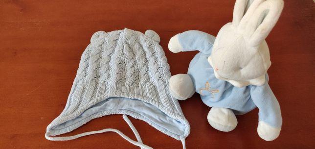 Шапочка вязаная детская, 1-2 годика, шапка дитяча,