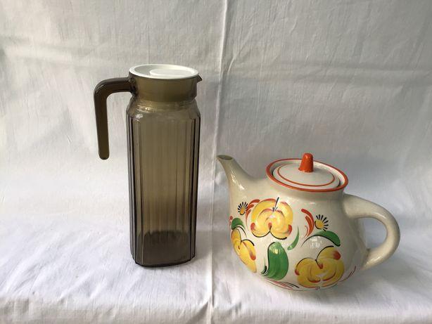 Кувшин для воды и чайник для заварки чая.Комплект.