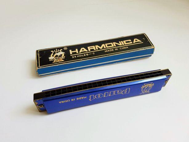 Большая губная гармошка, 24/48 (С) Parrot Harmonica, Китай, идеал.
