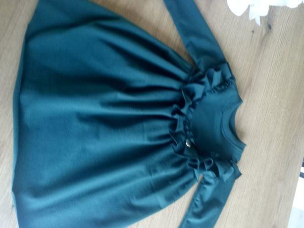 Sukienka w kolorze butelkowej zieleni rozmiar 80