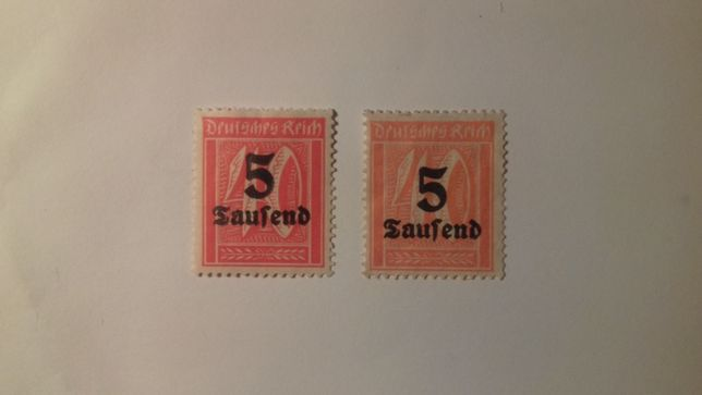 Znaczki pocztowe Niemcy Reich Mi 277 Wyd.przedrukowane
