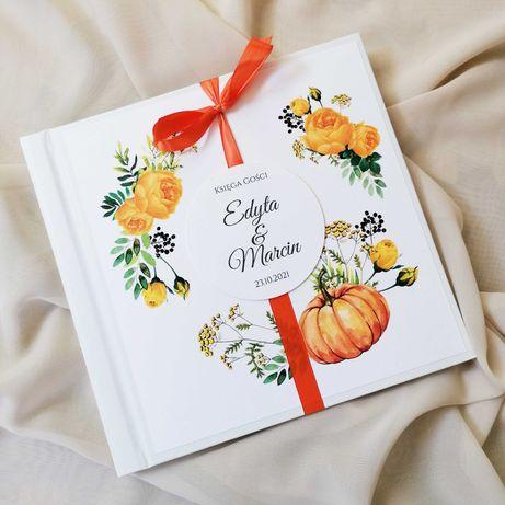 Piękna księga gości na wesele JESIENNA DYNIA