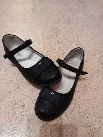 Туфли черные, кожа, р.34
