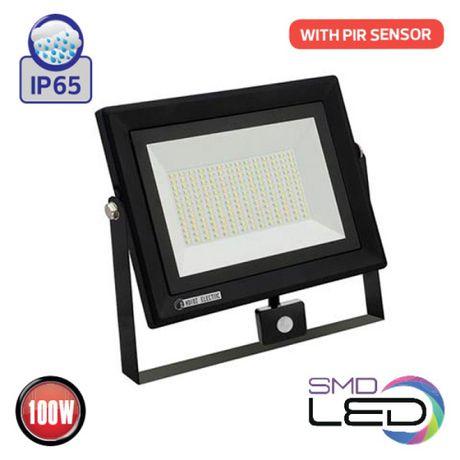 светодиодный прожектор LED с Датчиком Движения 100w 50w 30w 20w 10w