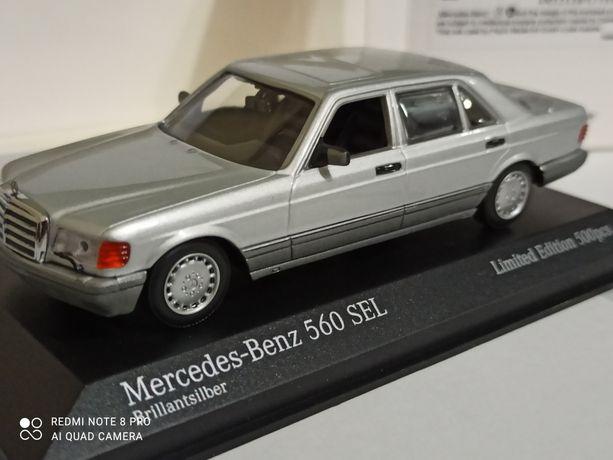 Масштабная модель 1-43 Mercedes Benz 560 SEL