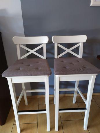 Hoker, krzesło barowe IKEA białe