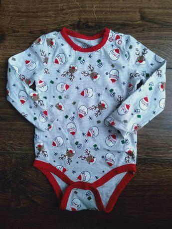 Body niemowlęce świąteczne Mikołaj 74