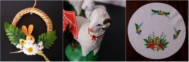Ozdoba Wielkanocna Świąteczna Serweta Serwetka Wianek Baranek Nowe
