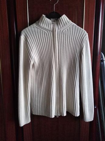 Sweter bluza damska na zamek s Springfield kremowa