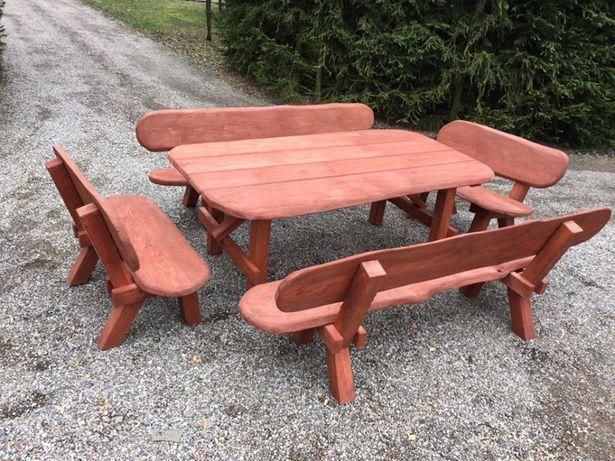 meble ogrodowe stół ławki 14 osobowe