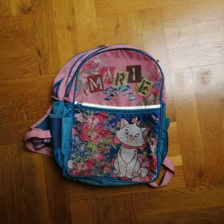 Plecak dla dziewczynki kotek różowy niebieski lekki
