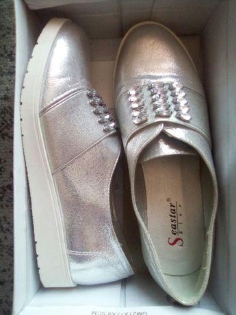 Продам туфлі срібні