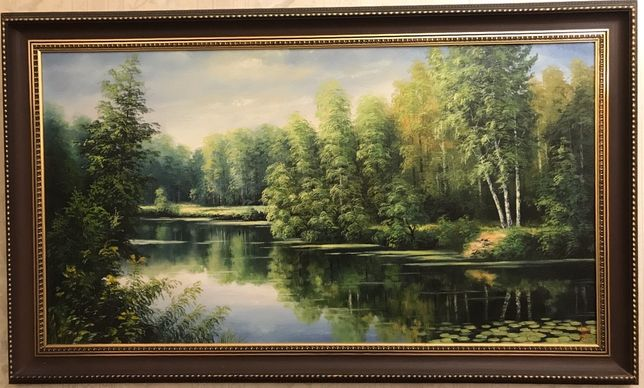 Картина «Вид на речку Ворсклу», 2002 г., холст, масло. Размер 110*60см