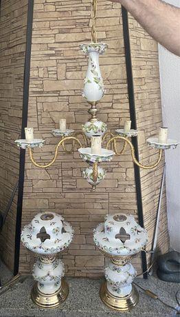 Candeeiros de porcelana como novos