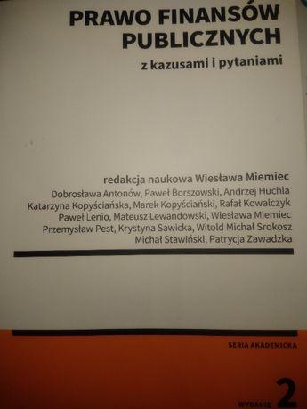 Prawo finansów publicznych z kazusami i pytaniami, red. W. Miemiec