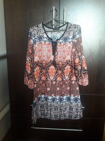 Платье туника с принтом