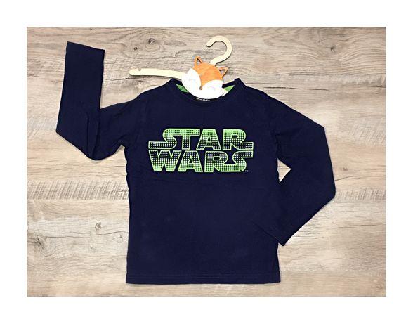 Star Wars bluzka z długim rękawem 110 116 granatowa zielona sportowa