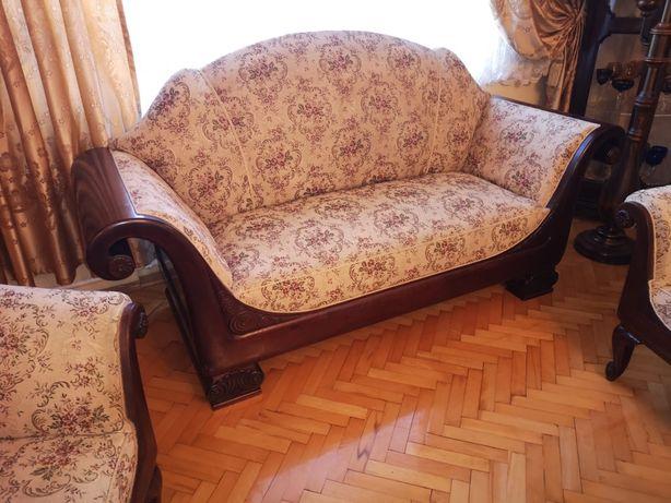 Antyczna Sofa Biedemeier orzech