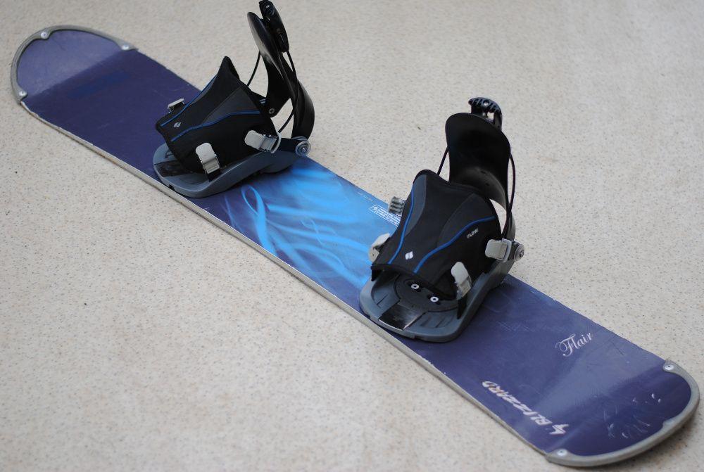 Deska snowboardowa snowboard Blizzard 146 cm wiązania FLOW Ścinawa - image 1