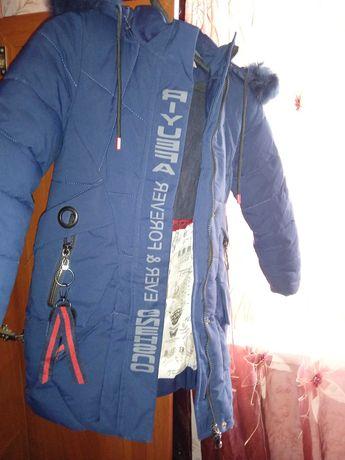 Зимова тепла куртка-пальто