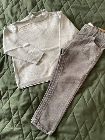 Spodnie i sweterek Zara, rozmiar 104
