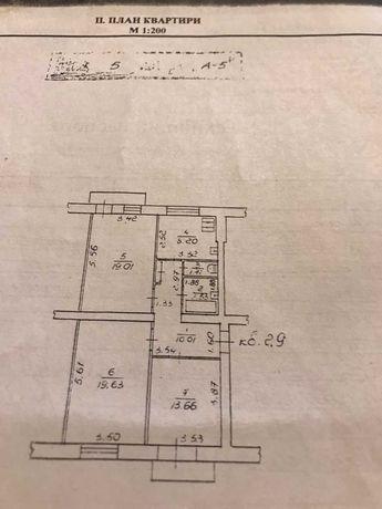 Продам 3-х комнатную полнометражную квартиру в районе Гагарина