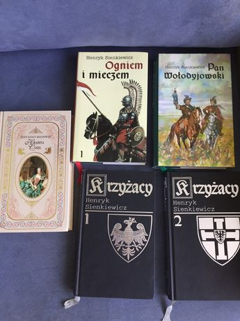 Ksiazki Pan Wołodyjowski,Hrabina Cosel,Krzyżacy i Ogniem I Mieczem