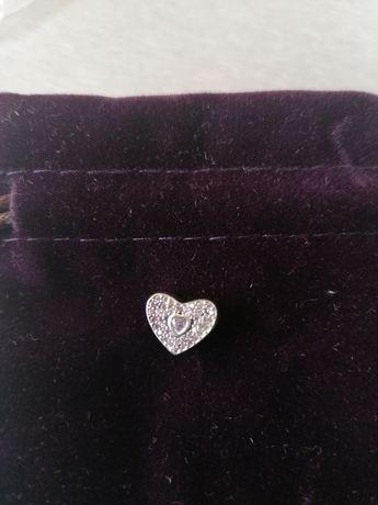 Charms serce z kamieniami 925