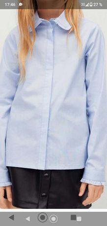 Рубашка голубая фирма Манго