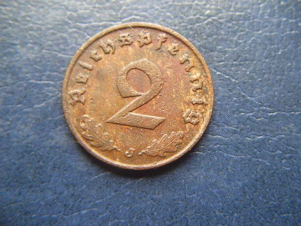 Stare monety 2 reichsfenigi 1938 J Niemcy / 3