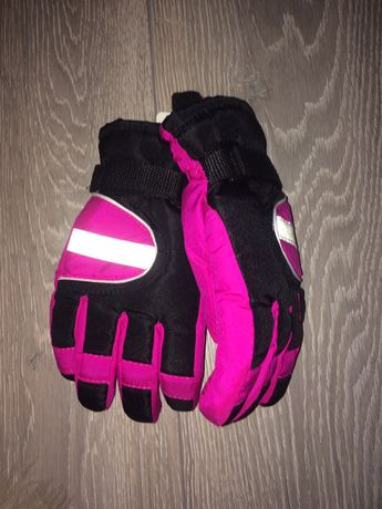 Rękawice narciarskie dla dzieci NOWE różowo czarne