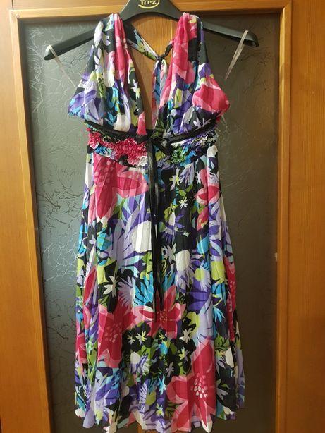 Платье сарафан шифоновое плиссе гофра