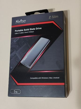 Внешний SSD диск Netac ZSLIM 1Tb 1Тб Type С USB 3.2