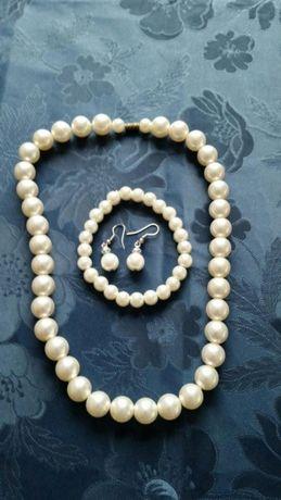 Biżuteria komplet pereł
