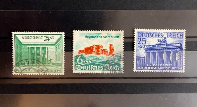 znaczki niemieckie DR obiekty monumenty - zestaw