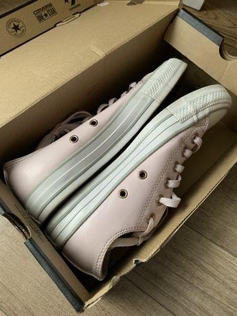 Buty converse rozowe skorzane 37.5 wkł 24